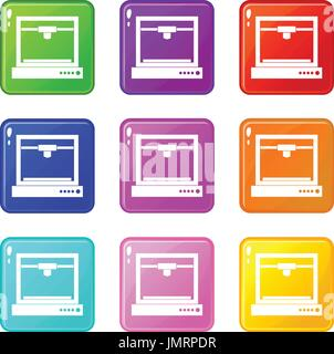 3d printer model set 9 - Stock Photo