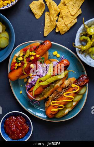 Gourmet ho dog - Stock Photo