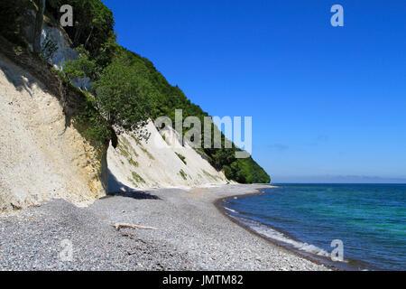 Chalk coast, Jasmund National Park, Baltic Sea, Sassnitz, Rügen, Mecklenburg-Western Pomerania, Germany, Europe - Stock Photo