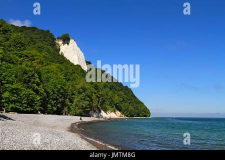 Chalk cliffs Königsstuhl, King's Chair, Jasmund National Park, Sassnitz, Mecklenburg-Western Pomerania, Germany, - Stock Photo