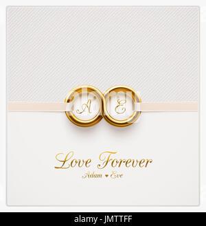 Love forever, wedding invitation, eps 10 - Stock Photo