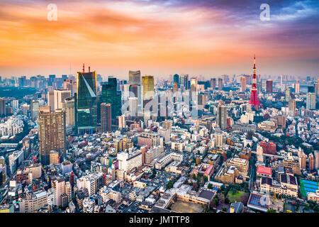 Tokyo, Japan skyline. - Stock Photo