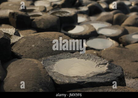 Northern Ireland, famous tourist site - Stock Photo