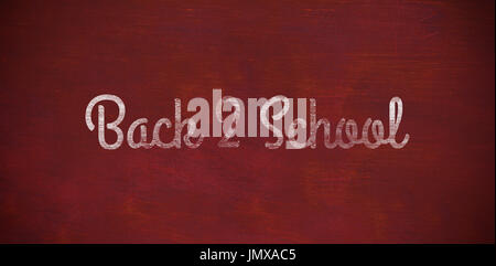 Back to school text against white background against brown blackground - Stock Photo