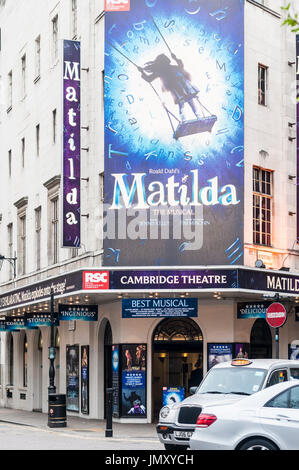 Front view of the theater where Matilda musical show is played in Covent garden, London. - Stock Photo