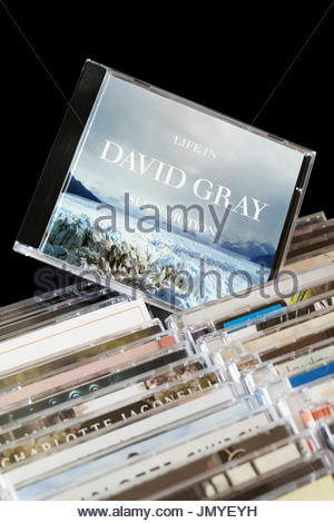 Life in Slow Motion, 2005  David Gray CD pulled out from among rows of other CD's, Dorset, England - Stock Photo