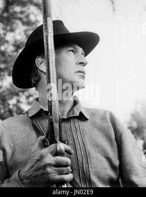 Gary Cooper, on-set of the Film, 'Friendly Persuasion', Allied Artists, 1956 - Stock Photo
