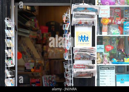 Newsagents and village shop UK - Stock Photo