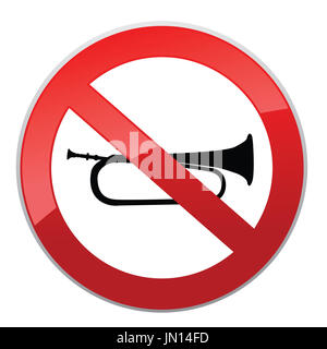 No sound sign. Keep Quiet symbol. Loud sounds ban - Stock Photo