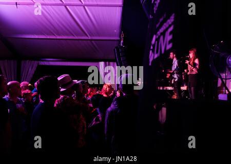 Cambridge, UK. 28th July, 2017 Morganway performs at the Cambridge Folk Festival 2017. Richard Etteridge / Alamy - Stock Photo