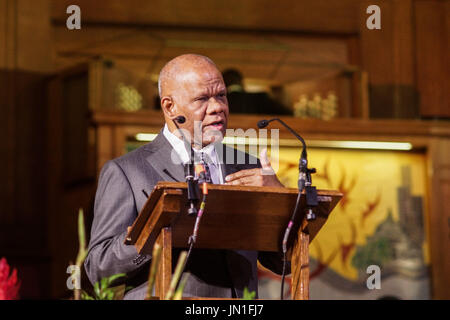 London, UK. 29th July, 2017. Jamaica's High Commissioner to the UK, Seth George Ramocan leads a service of praise - Stock Photo