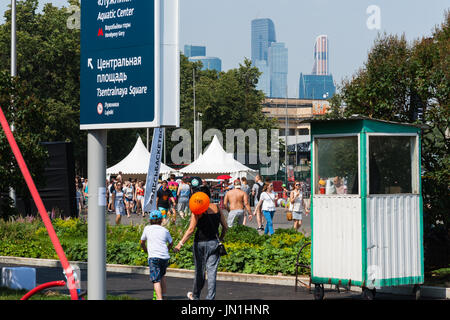 Moscow, Russia, Saturday, July 29, 2017. One day sports festival takes place at the Olympic Sports Complex Luzhniky. - Stock Photo