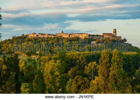 Tournon D'Agenais, France. Tournon D'Agenais, France, sunset in the French Bastide Village of Tournon D'Agenais - Stock Photo