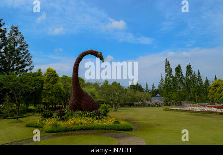 Beautiful Taman Bunga Nusantara, West Java, Indonesia. - Stock Photo