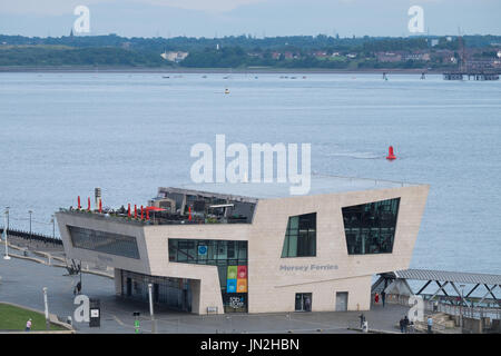The flagship £10.5m ferry terminal at Liverpool's Pier Head. In 2009, the building won the 'Carbuncle Cup' awarded - Stock Photo