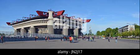 Stadio San Siro, Milan, on matchday - Stock Photo