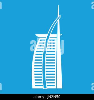 Hotel Burj Al Arab in United Arab Emirates icon - Stock Photo