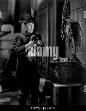 Stuart Erwin, on-set of the Film, 'The Misleading Lady', Paramount Pictures, 1932 - Stock Photo