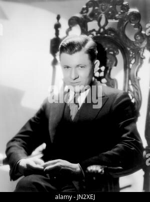 Actor Stuart Erwin, Publicity Portrait taken by Eugene Robert Richee for Paramount Pictures, 1930's - Stock Photo