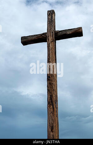Rugged Old Wooden Cross Jamestown Settlement Virginia The At In