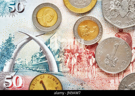 Close up picture of Kenyan shilling. - Stock Photo