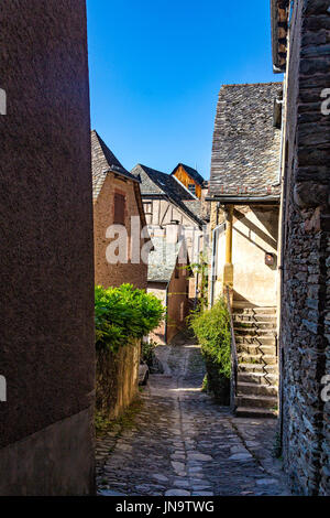 Lanes in Conque, Aveyron, France - Stock Photo