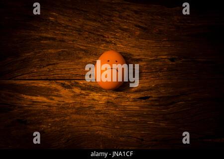 sad egg - Stock Photo