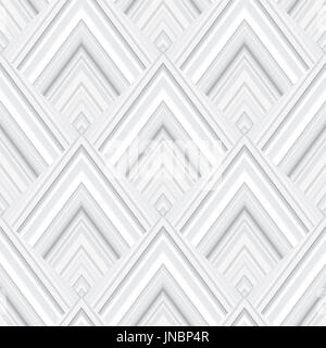 Abstract geometric pattern. Square shape abstract decorative architectural panel seamless vector background. Grey - Stock Photo