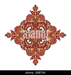 Arabic ornament background Oriental ethnic mandala amulet Abstract floral geometric pattern Geometric circle element - Stock Photo