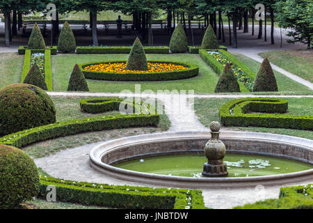 Kromeriz Archbishops palace Garden Moravia UNESCO town Czech