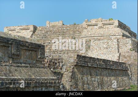 Monte Alban, ruins of the Zapotec civilization, Oaxaca, Mexico - Stock Photo