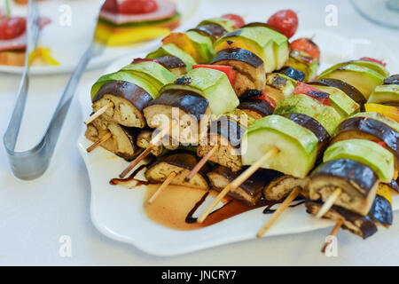 catering canapes food - Stock Photo