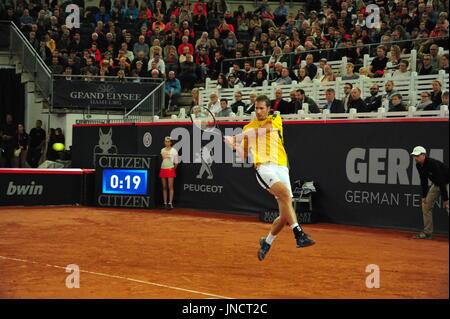 German Open 2017, ATP World Tour, Florian Mayer (GER) won half final match vs.Philipp Kohlschreiber, Hamburg. - Stock Photo
