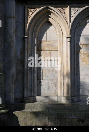 Blind arch at all saints church stand whitefield - Stock Photo