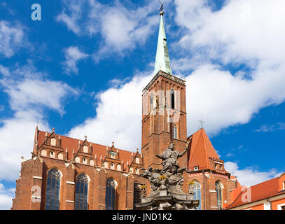 Church of the Holy Cross in Wroclaw, Poland - Stock Photo