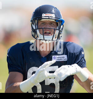 Bourbonnais, Illinois, USA. 29th July, 2017. - Chicago Bears #85 Daniel Brown in action during training camp on - Stock Photo