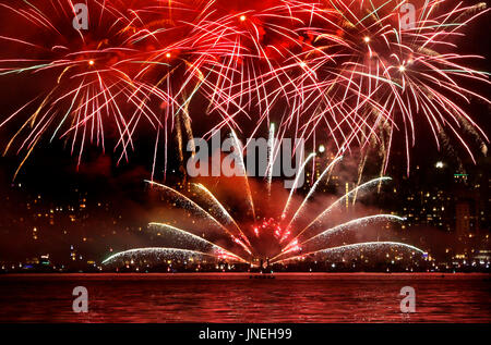 Vancouver, Canada. 29th July, 2017. Japanese team display their fireworks during the 27th annual Celebration of - Stock Photo