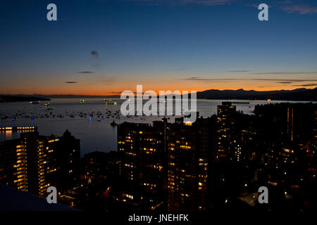 Vancouver, BC, Canada.  29th July, 2017.   Many boats fill the waters of English Bay shortly before the start of - Stock Photo