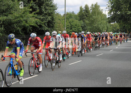 Peleton. RideLondon-Surrey Classic. Hurst Road, East Molesey, Surrey, UK. 30th July 2017. UCI World Tour classified, - Stock Photo