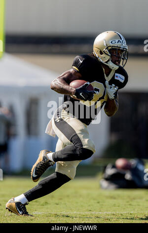 Metairie, Louisiana, USA. 30th July, 2017. New Orleans Saints running back Travaris Cadet (38) participates in drills - Stock Photo