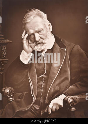 Victor Hugo (1802–1885) was a French poet, novelist, and dramatist of the Romantic movement. His works include the - Stock Photo