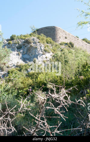 Fuerte de Sta Elena (The fort at Santa Elena), Pyrenees Mountains, Huesca province, Aragon, Spain - Stock Photo