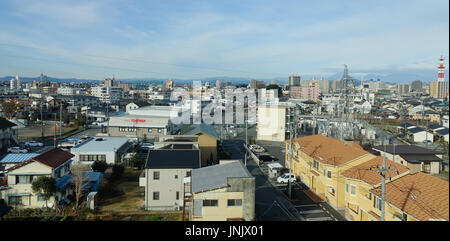 Tokyo, Japan - Jan 2, 2016. Buildings located Taito district in Tokyo, Japan. - Stock Photo
