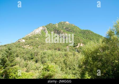 Fuerte de Sta Elena (The fort at Santa Elena), Pyrenees Mountains, Huesca province, Aragon, Spain - Stock Photo