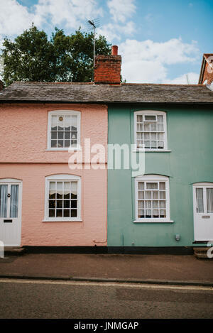 Typical english houses in Lavenham - Stock Photo