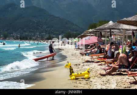 Golden Beach, Thassos Greece. - Stock Photo