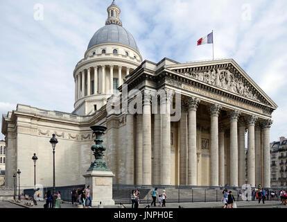 Paris, France, Panthéon, in the Latin Quarter in Paris, originally a church dedicated to Ste Genevieve, - Stock Photo