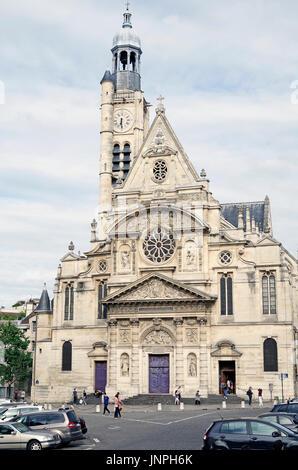Paris, France, Eglise, church, of Saint-Étienne-du-Mont - Stock Photo