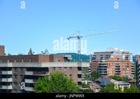 The construction of expensive Condo buildings in Montreal (Cote Saint-Luc), Canada - Stock Photo