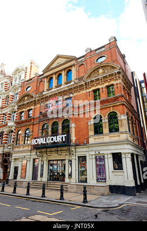 Royal Court Theatre, Sloane Square, Chelsea, London, UK - Stock Photo